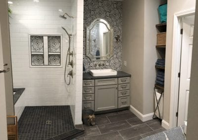 bathroom remodel and interior painting